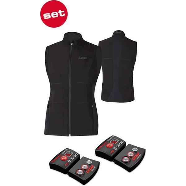 LENZ Damen Heizweste set of heat vest 1.0 women + lithium pack rcB 1800