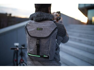 Wheel Bee® Backpack City Lights Grau