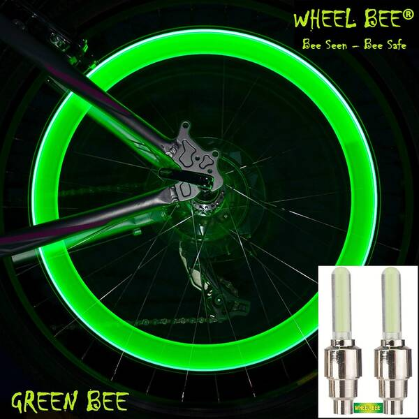 WHEEL BEE LED Bicycle Lights green, 2pcs. Blistercard