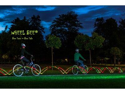 WHEEL BEE LED Bicycle Lights Twister, 2pcs. Blistercard Schwarz