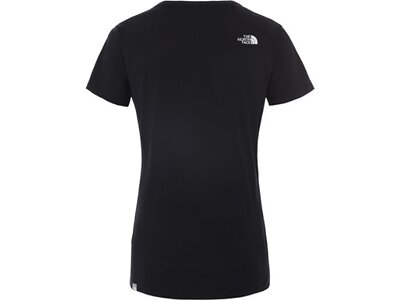 THE NORTH FACE Damen Shirt W S/S SIMPLE DOM TEE Schwarz