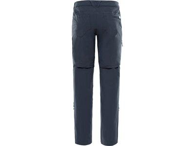 "THENORTHFACE Damen Zip-Off-Hose ""Exploration Convertible Pant"" Grau"