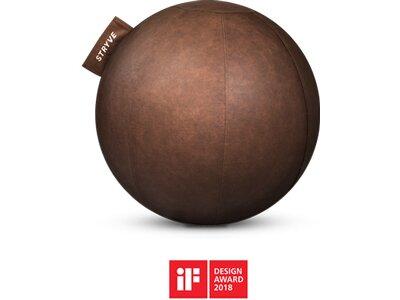 STRYVE Sitzball Ball Lederstoff 70cm Braun
