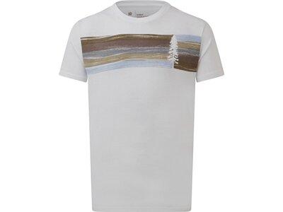 TENTREE Herren Shirt M Spruce Stripe T-Shirt Weiß