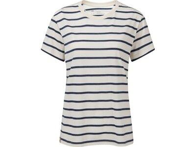 TENTREE Damen Shirt W Breton Stripe T-Shirt Weiß