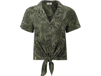 TENTREE Damen Bluse W Meander Tie Front Shirt Grün