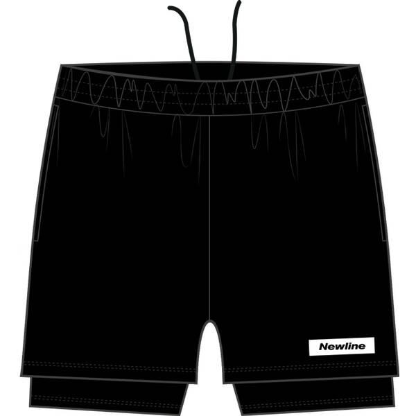NEWLINE Herren Shorts Black 2-Lay