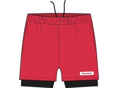 NEWLINE Herren Shorts Black 2-Lay Rot