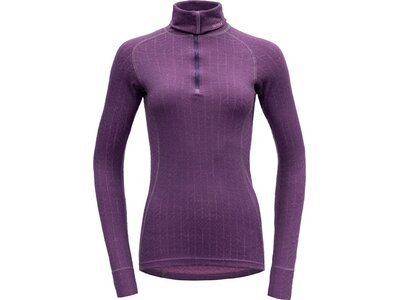 DEVOLD Damen Unterhemd DUO ACTIVE ZIP NECK Lila