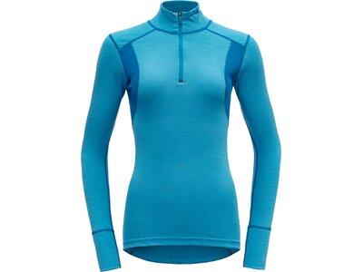 DEVOLD Damen Unterhemd HIKING WOMAN HALF ZIP NECK Blau