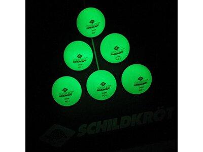 DONIC SCHILDKRÖT TT-Ball GLOW IN THE DARK POLY 40+, 6 Stück Schwarz