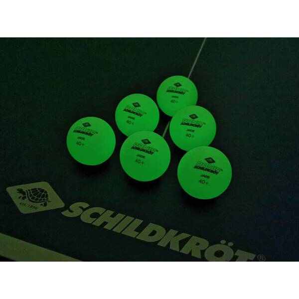 DONIC SCHILDKRÖT TT-Ball GLOW IN THE DARK POLY 40+, 6 Stück