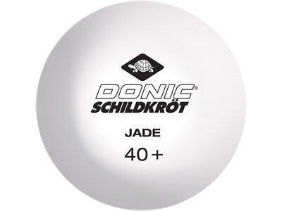Donic-Schildkröt Tischtennisball Jade, Poly 40+ Qualität, 6 Stk. im Blister, 3x weiß / 3x orange Orange
