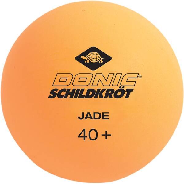 Donic-Schildkröt Tischtennisball Jade, Poly 40+ Qualität, 6 Stk. im Blister, 3x weiß / 3x orange