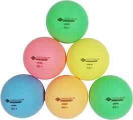 Donic-Schildkröt Tischtennisball Colour Popps, 6 farbige Bälle in Poly 40+ Qualität