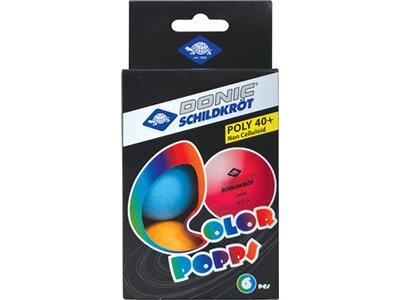 Donic-Schildkröt Tischtennisball Colour Popps, 6 farbige Bälle in Poly 40+ Qualität Grün