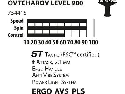 Donic-Schildkröt Tischtennisschläger Ovtcharov 900 FSC Grau