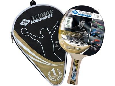 DONIC SCHILDKRÖT Tischtennis-Schläger OVTCHAROV Gold FSC, inkl. Hülle Schwarz