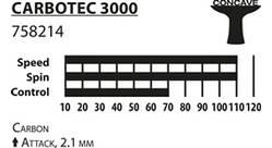 Vorschau: Donic-Schildkröt Tischtennisschläger CarboTec 3000, konkav