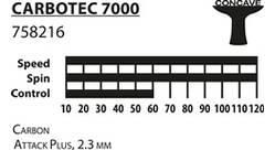 Vorschau: Donic-Schildkröt Tischtennisschläger CarboTec 7000, konkav