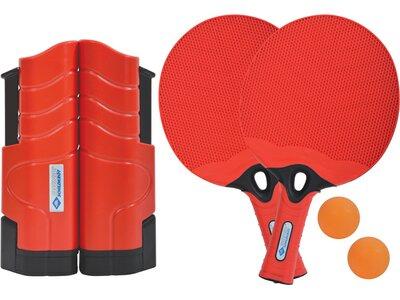 DONIC SCHILDKRÖT Tischtennis-Set (2x Schläger + 2 Bälle + 1 Flex Net) Rot