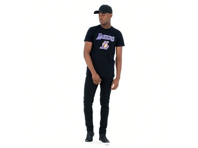 NEW ERA Herren T-Shirt LOS ANGELES LAKERS Schwarz