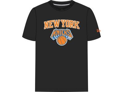 NEW ERA Herren T-Shirt NEW YORK KNICKS TEAM LOGO Schwarz