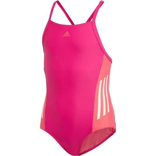 ADIDAS Mädchen Badeanzug Fitness Training Suit Colorblock 3 Stripes