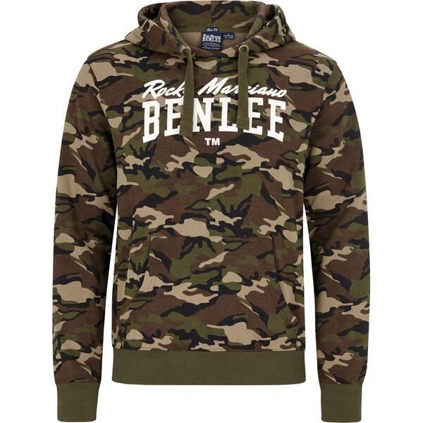 BENLEE Men Slim Fit Hooded Sweatshirt GREENSTONE