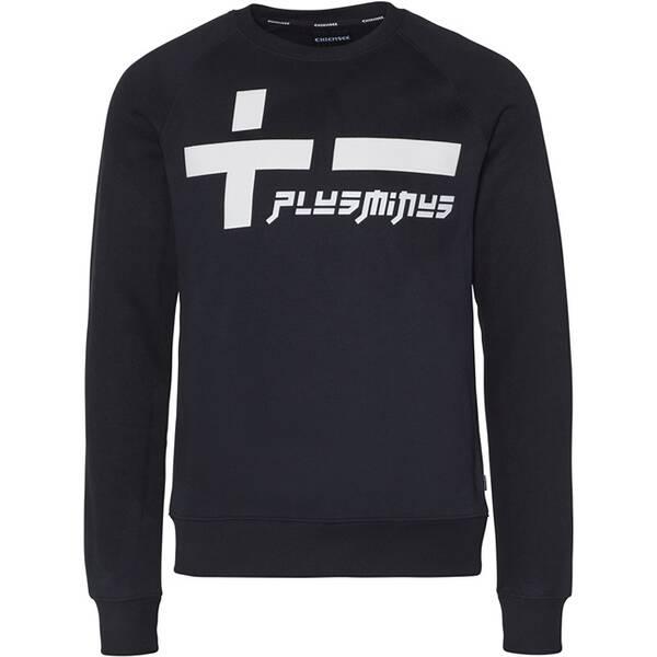 CHIEMSEE Sweatshirt mit großem PlusMinus Frontprint - GOTS zertifiziert Schwarz