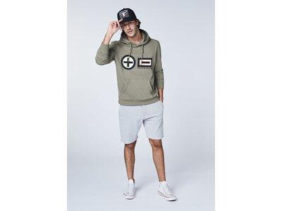 CHIEMSEE Sweatshirt mit PlusMinus Frontprint - GOTS zertifiziert Grün