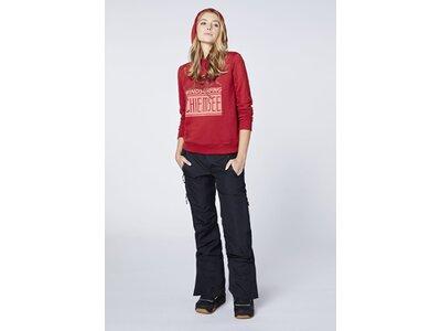 CHIEMSEE Sweatshirt mit Kapuze und großem Frontprint - GOTS zertifiziert Rot