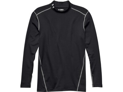UNDERARMOUR Herren Kompressions-Mock-Shirt UA ColdGear Armour Schwarz