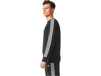"ADIDAS Herren Sweatshirt ""Essentials 3-Stripes Crew Fleece"" Langarm Grau"