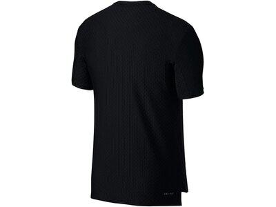 """NIKE Herren Tennisshirt """"Top SS Checkered BL"""" Kurzarm Schwarz"""