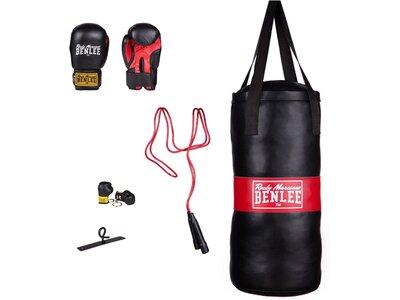 BENLEE Boxing Bag & Gloves Set PUNCHY Schwarz