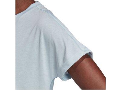 ADIDAS Damen Trainingsshirt Kurzarm Silber