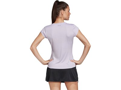 "ADIDAS Damen Tennisshirt ""Club 3 Stripes"" Silber"