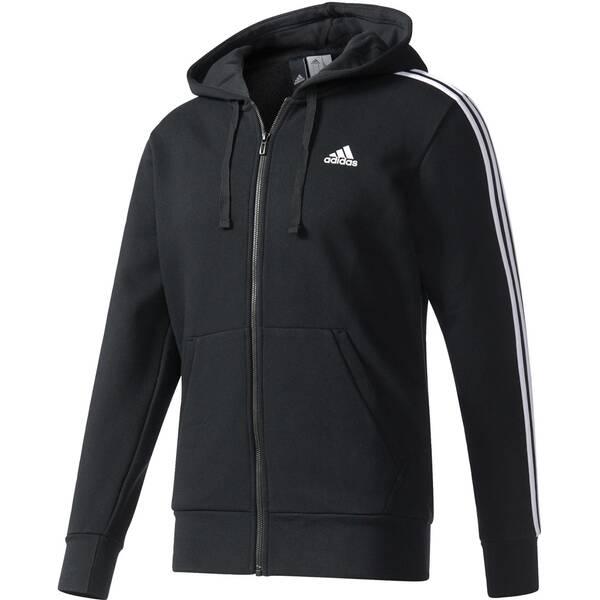 ADIDAS Herren Sweatjacke mit Kapuze Essentials 3S FZ Hood Fleece