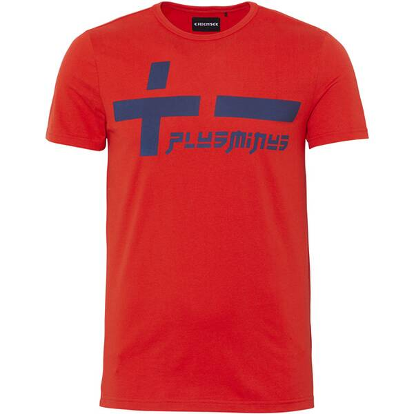 CHIEMSEE T-Shirt mit PlusMinus Frontprint - GOTS zertifiziert