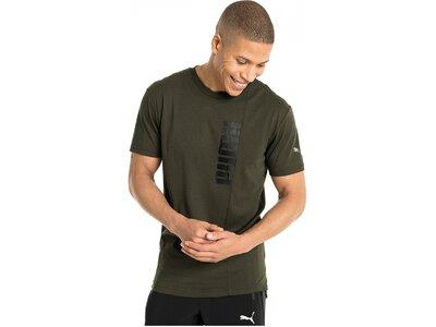 "PUMA Herren Fitnessshirt ""Energy Triblend Graphic Tee"" Grau"