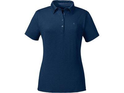 SCHÖFFEL Damen Poloshirt Capri1 Kurzarm Blau