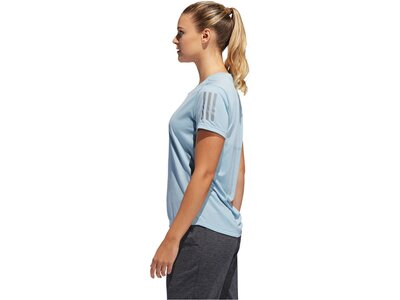 "ADIDAS Damen Laufshirt ""Own the Run"" Kurzarm Silber"