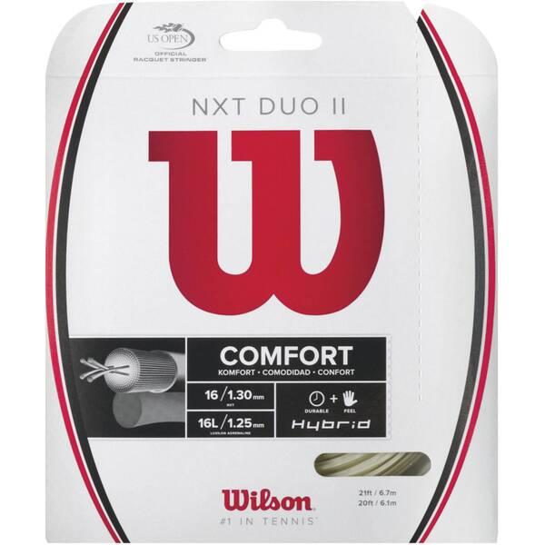WILSON Tennisschläger Saitenset NXT Duo II