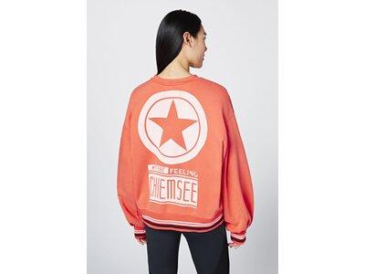 CHIEMSEE Sweatshirt mit weiten Ärmeln und Rückenprint - GOTS zertifiziert Rot