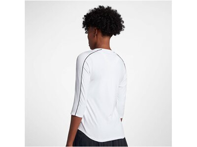 NIKE Damen Tennisshirt 3/4-Arm Weiß