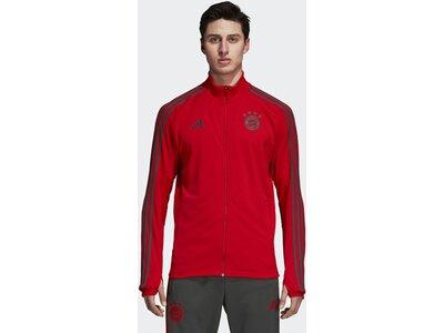 ADIDAS Herren FC Bayern München Trainingsjacke Rot
