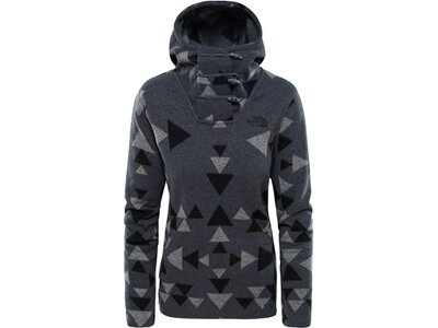 Damen Fleecepullover Crescent Hooded Pullover Grau