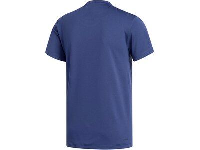 "ADIDAS Herren Trainingsshirt ""Aeroready 3S Tee"" Blau"