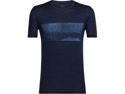 ICEBREAKER Merino Herren Funktionsshirt Tech Lite Short Sleeve Crewe Hard Rain Kurzarm Blau
